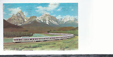 Canadian Pacific Senic Dome Steamliner  Rockies  Train  Mailed 1962 Postcard 534