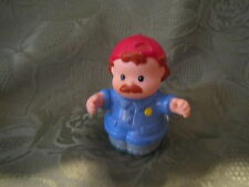 Fisher Price Little People Garage mechanic tow truck driver red hat boy blue man