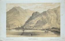1852 Montenegro Cattaro Cattaro litografia-Vista da kollarz