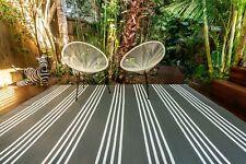 200 x 270cm Tokyo Grey Outdoor/Indoor Plastic Rug/Mat Waterproof
