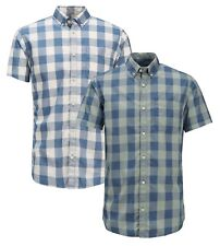 JACK & JONES Boise Short Sleeve Shirt New Men Cotton Slim Fit Check Smart Shirts