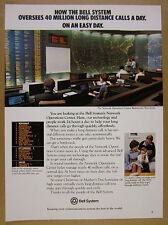 1979 Bell Telephone System NOC Center Bedminster NJ photo vintage print Ad