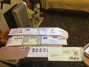 India X 9 Postal History Items