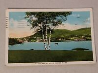 Vintage Postcard Harbor & MT Battie Camden Maine ME White Border posted 37' #553