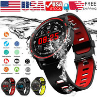 L8 Smart Sports Watch IP68 Waterproof ECG PPG Blood Pressure Heart Rate Monitor