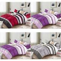 DCP 5-Piece bedding set Comforter Set Bed in a Bag,Stripes,Twin/Queen/King SIZE