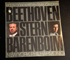 VIOLIN CONCERTO D MAJOR OP 61 ISAAC STERN BEETHOVEN BARONBOIM LP SEALED NY