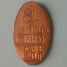 8th Saint St Louis Ec Meet 2010 Gateway Arch Missouri Elongated Copper Penny