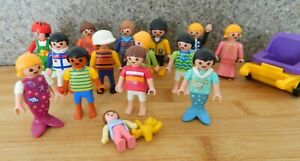 BUNDLE OF 15 PLAYMOBIL CHILDREN FIGURES + EXTRAS - VGC