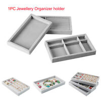 Velvet Jewelry Display Box Case Tray Rings Earring Holder Jewelry Box Organizer