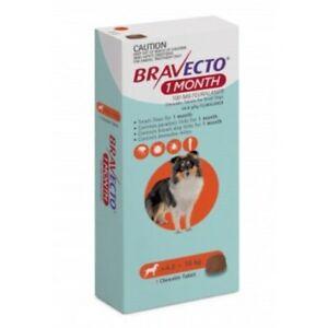 Bravecto Small 4.5-10kg Orange Dog 1 Month Chew Treatment 1 pack (1 month)