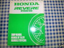 BB 67MS930Z Manual De Taller Actualización HONDA NTV 600 650 K Ediz. 1989