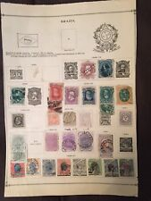 156 BRAZIL STAMPS ON SHEETS 1866-1955 USED UNUSED POSTAGE AIRMAIL OFFICIAL COMM.