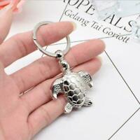 Creative Silver Metal Turtle Keyring Key Chain Charm Pendants Handbag Decor H5S2