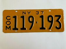 1937 New York Commercial Truck License Plate Pickup Repaint