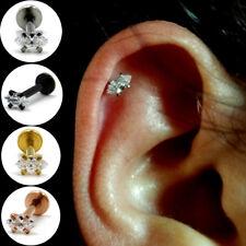 Horse Eye Marquise Style Zircon Ear Cartilage Tragus Helix Piercing Earring Stud
