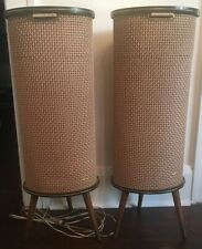 Vintage Mid Century Modern Isophon Speakers MCM Germany AS IS Clean