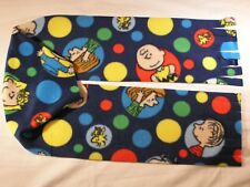 Charlie Brown Snoopy in Circles Fleece Scarf