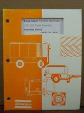 Oem Atlas Copco Qac 1006 Trailer Assembly Portable Generator Instruction Manual
