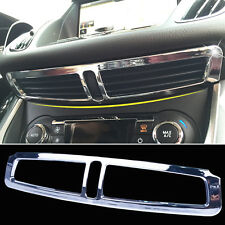 Chrome Dashboard Central A/C Air Vent Cover Trim For 13-16 Ford Escape Kuga
