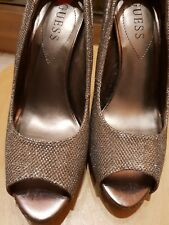 GUESS  HIGH HEEL PEEP TOE SHOES SIZE 5 1/2
