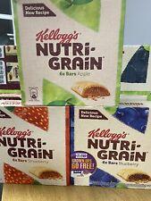 KELLOGGS NUTRI-GRAIN CEREAL BARS Strawberry,Blueberry,Apple x 18 Bars