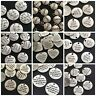 Antique silver round Tibetan charms pendant inspirational quotes wishes thoughts