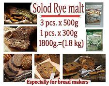 3pcs x 500g.+ 1pcs x 300g. Solod Rye malt. Especially for bread makers!