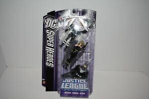 Mattel DC SuperHeroes Justice League Unlimited Superman Hawkgirl Batman 2007 NIP