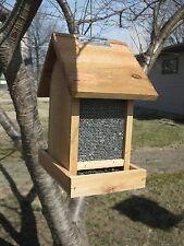 Bird Feeder All Natural Red Cedar Sunflower Wild Bird Seed Cardinal Feeder