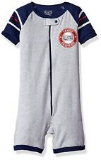 The Children's Place Baby Short Sleeve One-Piece Pajamas,H/T Mist,9-12 months