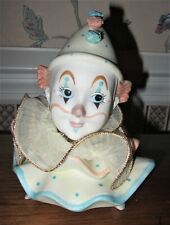 The Entertainers 1988 Ehw Enterprises Porcelain Clown Music Box; Willitts Design