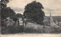 VAUCOULEURS - Murs d'enceintes du château et le gros tilleul