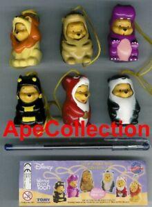 TOMY Set 6 Figurine Winnie Animal Wear Larges Partie 2 Mini Relève Peek À Pooh