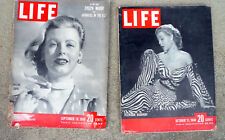 Life Magazine 1948 1949 Lot 2 Great Ads War Articles History Television Discovey