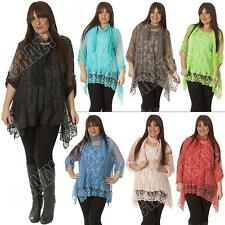 Viscose Scoop Neck Plus Size Tops & Shirts for Women