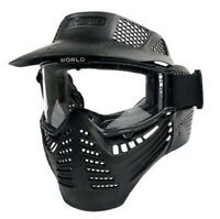 Full Face Tactical Mask Airsoft Paintball with Eye Protective Goggles New Black