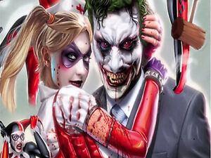 Lovers Clown Zombie 5D Diamond Painting Full drill Rhinestone Embroidery /3420
