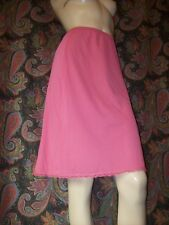 Vintage Shadowline Pink Silky Nylon A-line Half Slip Lingerie S