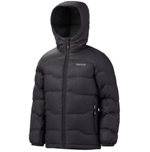 Marmot Boys Ama Dablam 700 Down Fill Black Puffer Jacket #72950 Size M