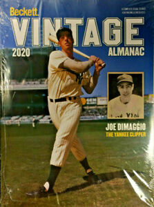 New 2020 Beckett Vintage Almanac Annual Price Guide 6th Edition W/ Joe DiMaggio