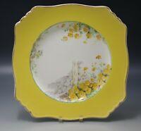 ROYAL WINTON GRIMWADES YELLOW MORN SQUARE SALAD PLATE 1930's