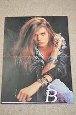 SKID ROW sexy signed Autogramm  In Person riesengroßes  POSTER Sebastian Bach 95