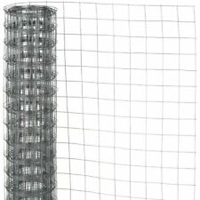 Nature Garden Fence Wire Mesh Square Grey 0.5x2.5 m Outdoor Barrier 6050252