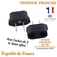 x1 Adaptateur prise France EU Europe US USA secteur courant electrique voyage