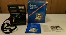 Vintage Polaroid Supercolor 635CL Cámara Con Correa, Caja, manual Etc. Sin Probar