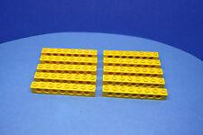 LEGO 10 Technik Technic Lochstein Lochbalken 1x8 gelb yellow brick 3702 370224