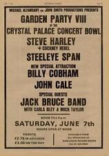 Steve Harley John Cale Jack Bruce Cobham UK show ad '75