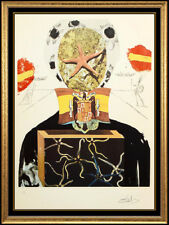 Salvador Dali Original Color Etching Hand Signed Surrealist King Large Artwork