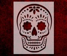 "Sugar Skull Day Of The Dead Dia De Muertos 8.5"" x 11"" Stencil FASTSHIPPING (591)"